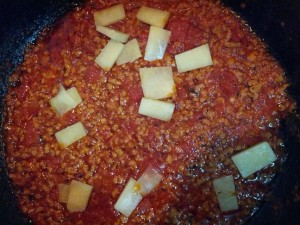 meat sauce with cheese