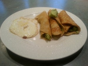 crepes with avocado